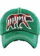 Limited Edition Mama Bear Plaid Holiday Baseball Hat inset 3