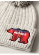 MAMA BEAR Soft Ribbed Beanie Hat with Pom inset 1