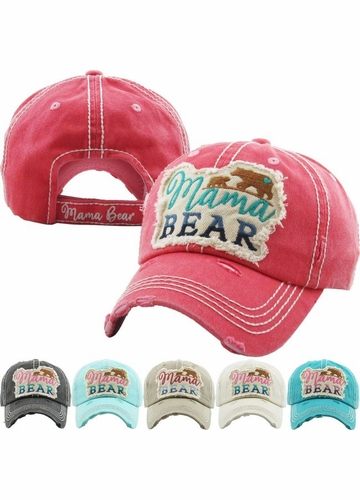 MAMA BEAR Washed Vintage Ballcap