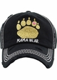 MAMA BEAR Washed Vintage Baseball Cap with Gold Glitter inset 2
