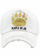 MAMA BEAR Washed Vintage Baseball Cap with Gold Glitter inset 4