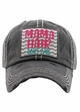 MAMA HAIR, DON'T CARE Vintage Distressed Baseball Cap inset 1