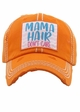 MAMA HAIR, DON'T CARE Vintage Distressed Baseball Cap inset 4