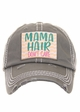 MAMA HAIR, DON'T CARE Vintage Distressed Baseball Cap inset 3