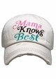 Mama Knows Best Washed Vintage Baseball Cap inset 2