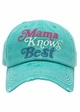 Mama Knows Best Washed Vintage Baseball Cap inset 3