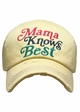 Mama Knows Best Washed Vintage Baseball Cap inset 4
