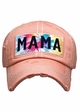 Mama Tie Dye Patch Washed Vintage Baseball Cap inset 1