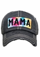 Mama Tie Dye Patch Washed Vintage Baseball Cap inset 2