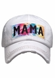 Mama Tie Dye Patch Washed Vintage Baseball Cap inset 3
