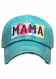 Mama Tie Dye Patch Washed Vintage Baseball Cap inset 4