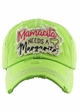 MAMACITA NEEDS A MARGARITA Washed Vintage Baseball Hat inset 1