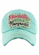 MAMACITA NEEDS A MARGARITA Washed Vintage Baseball Hat inset 2
