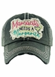MAMACITA NEEDS A MARGARITA Washed Vintage Baseball Hat inset 3
