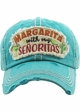 MARGARITA WITH MY SENORITAS Washed Vintage Ballcap inset 1