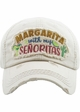 MARGARITA WITH MY SENORITAS Washed Vintage Ballcap inset 2