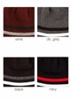 Men's Solid Stripe Reversible CC Beanie Hat inset 2