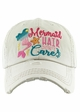 MERMAID HAIR DON'T CARE Washed Vintage Baseball Hat inset 1