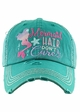 MERMAID HAIR DON'T CARE Washed Vintage Baseball Hat inset 2