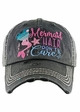 MERMAID HAIR DON'T CARE Washed Vintage Baseball Hat inset 3