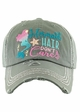 MERMAID HAIR DON'T CARE Washed Vintage Baseball Hat inset 4