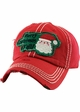 MERRY CHRISTMAS Y'ALL Washed Vintage Ballcap inset 1