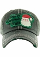 MERRY CHRISTMAS Y'ALL Washed Vintage Ballcap inset 3