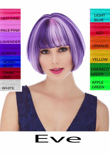 Mini Bob Wig Eve with Rich Bangs in 40 Costume Colors