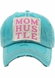 Mom Hustle Washed Vintage Ballcap inset 3