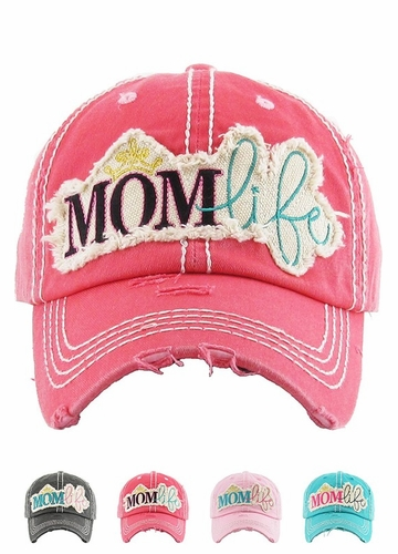 MOM LIFE Washed Vintage Baseball Cap