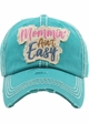 Mommin' Ain't Easy Washed Vintage Ballcap inset 2