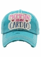 MOMMIN' IS MY CARDIO Vintage Distressed Baseball Cap inset 1