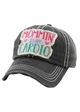 MOMMIN' IS MY CARDIO Vintage Distressed Baseball Cap inset 3