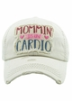 MOMMIN' IS MY CARDIO Vintage Distressed Baseball Cap inset 4