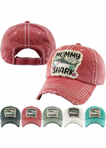 Mommy Shark Vintage Patch Baseball Hat