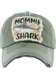 Mommy Shark Vintage Patch Baseball Hat inset 1