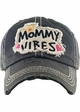MOMMY VIBES Washed Vintage Ballcap inset 1