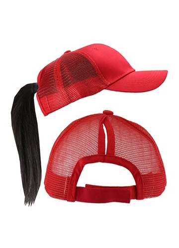 More Ponytail Trucker Hat with Mesh Back