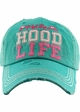 Motherhood Life Washed Vintage Distressed Baseball Cap inset 1
