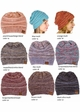 Multi Color Knit CC Beanie Hats  inset 2