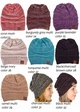 Multi Color Knit CC Beanie Hats  inset 3