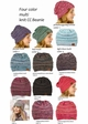 Multi Color Knit CC Beanie Hats  inset 1