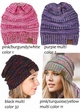 Multi Color Knit CC Beanie Hats  inset 4