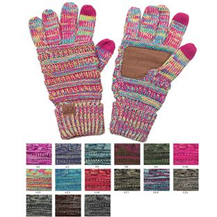 Multi Color Knit Gloves from CC Brand