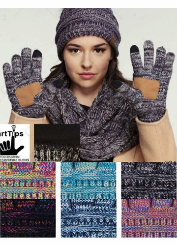 Multi Color Smart Tip CC Gloves with Lining
