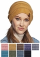 Mustard Stone Washed Cotton CC Beanie Hat inset 1