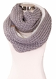 Natural Grey CC Knit Scarf with Sherpa Lining inset 1