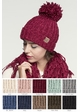 Natural Grey Twisty Chenille Knit CC Beanie Hat inset 1