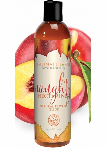 Naughty Nectarines Intimate Earth Natural Flavors Massage Glide