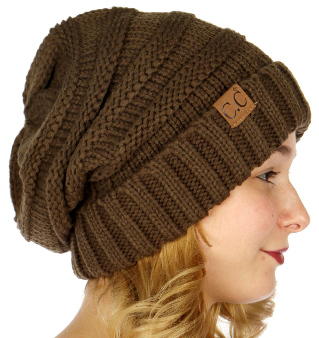 accecbb527d New Olive Slouchy CC Beanie Hat